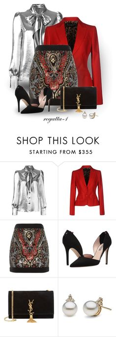 """""""Evening Out"""" by regatta-1 ❤ liked on Polyvore featuring Yves Saint Laurent, Dolce&Gabbana, Balmain and SJP"""