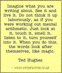 Quotable - Ted Hughes - Writers Write