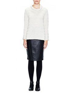 Achieve an effortless fashion with our range of designer clothes, which you can use as travel outfits, work outfits or casual wear. Winter 2017, Fall Winter, Autumn, Roll Neck Jumpers, Casual Wear, Knitwear, Leather Skirt, Skirts, How To Wear