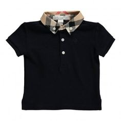 Burberry William Tartan Collar Polo Shirt `12 months,18 Fabrics : Cotton Pique * Details : Burberry Tartan, Polo neck, Short sleeves, Tab closing - 3 buttons, Embroidery * Composition : 100% Cotton http://www.MightGet.com/january-2017-13/burberry-william-tartan-collar-polo-shirt-12-months-18.asp