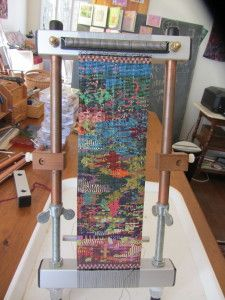 Free-form Delica bead weaving on  a Mirrix Loom.  www.mirrixlooms.com #mirrixpins