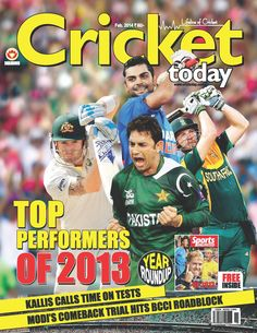 Cricket Today - February 2014 : Tendulkar said goodbye to cricket, Team India had a phenomenal season, England won and then lost the Ashes, Sreesanth was jailed for spot-fixing and Cristiano Ronaldo finally ended Lionel Messi's winning streak in the FIFA Ballon d'Or - read what happened in the world of sports in 2013 in this edition of Cricket Today..