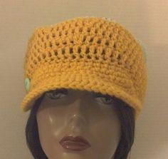 Crochet Hat, Crochet Cap, Striped Crochet Hat, Striped Crochet Cap with Matching Hoop Earrings #handmade #etsymnt