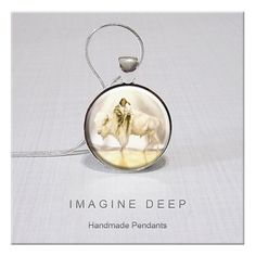 Pendant  Native American Art White Buffalo Calf Woman High by ImagineDeep, $10.98