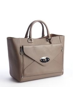 Mulberry taupe leather 'Willow' tote bag