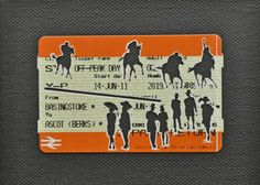 "Please Mind The Gap: Good To Firm    Cut Out Train tickets on canvas  2011   5""x 4""    £90 including frame"