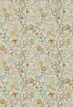 Mary Isobel Russet Taupe Wallpaper By Morris