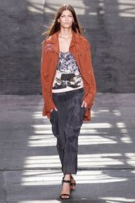 Slouchy silk pants for Spring.