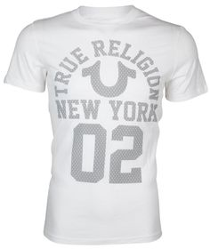 6c9bedea TRUE RELIGION JEANS NWOT Graphic New York Logo T-shirt Tee White Crew Neck  S #TrueReligion #GraphicTee