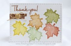 Excellent tips and guidelines for creating your own stamps with Silhouette. Thank you stamped leaf card by krafting kelly, via Flickr.