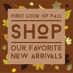 End of summer sale and new fall arrivals. That's what I call the one-two-punch for savings. #sale #newarrivals