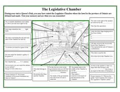 Lesson Plan: Roles in Ontario's Parliament Activity Sheets, The Province, Teaching Tools, Lesson Plans, Ontario, Activities, How To Plan, Lesson Planning