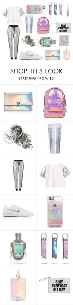 """Holo"" by naddy-blanc on Polyvore featuring Miss Selfridge, Topshop, NIKE, Casetify, ban.do, Forever 21, Meri Meri, holo and holosexual"