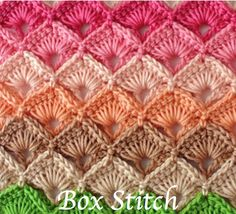 The Crochet Box Stitch really comes into its own when worked in rows of graduating colors, or in alternating colors. From baby blankets to Ponchos, Afghans, and pillowcases, there's not much you cannot create using crochet box stitches.
