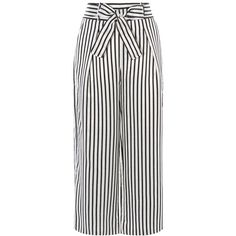 Karen Millen Striped Trouser (£50) ❤ liked on Polyvore featuring pants, bottoms, trousers, clearance, high-waist trousers, karen millen, striped trousers, tie belt and high-waisted pants
