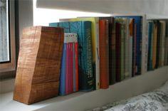 natural wood bookends diy