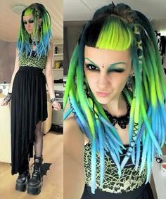 2144172acaa Psychara with amazing tropical dreads. So summer-y!! Gothic People