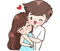 Sticker pack for cute couples in love Love Cartoon Couple, Cute Couple Comics, Cute Love Cartoons, Anime Love Couple, Cute Anime Couples, Cute Love Pictures, Cute Cartoon Pictures, Cute Love Gif, Cute Love Couple