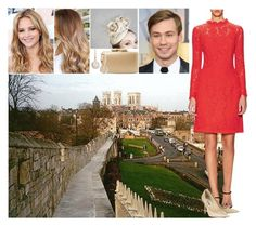 """Fiona Ahlstedt at the christening of her boyfriend Alexander's nephew Julian David Miller in York, England"" by charlottedebora ❤ liked on Polyvore featuring Temperley London, Jimmy Choo, Kayu and Mémoire"