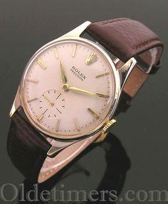A 9ct gold round vintage Rolex Precision watch, 1959