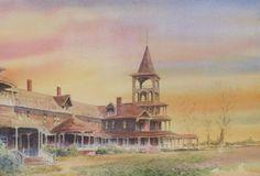 Broadwater Hotel, Helena, Montana  Pen & Ink Watercolor #Impressionism