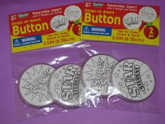 Design a Button - use for Wild Kratts Creature Power Discs (found these at Target)