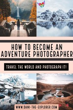 How To Become An Adventure Photographer - Dani The Explorer How To Become An Adventure Photographer | I decided I was going to become an adventure photographer. I am so grateful I have the privilege of working for myself and I couldn't be happier with how my career is developing! More often than not, I get messages on my Instagram asking me how I get paid to travel and how I got started. | Travel Photography | Adventure Photography<br> Want to know how to become an adventure photographer?… Travel Photography Tumblr, Photography Beach, Hiking Photography, Adventure Photography, Outdoor Photography, Photography Tips, Nature Photography, Photography Hashtags, Photography Career