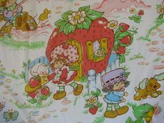Strawberry Shortcake Sheets - I loved these, and I ruined them when I fell asleep with gum in my mouth :( My Childhood Memories, Childhood Toys, Sweet Memories, Kickin It Old School, Vintage Strawberry Shortcake, 90s Nostalgia, I Remember When, 80s Kids, Oldies But Goodies
