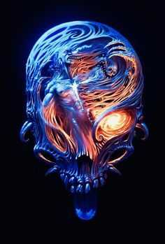 Blue Flaming Skull Live Wallpaper Android Live Wallpapers From