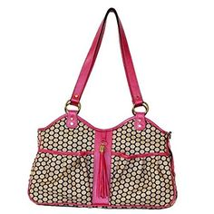 Petote Metro Couture with Rose Leather Trim Pet Carrier Designer Handbag  Large >>> Click image for more details.(This is an Amazon affiliate link and I receive a commission for the sales)