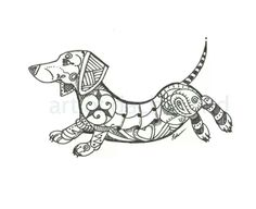"Dachshund Zentangle ""DachsZen"""