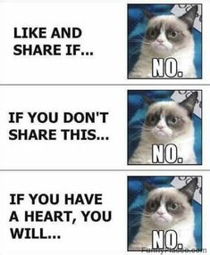 I aint liking and I aint sharing I have no heart