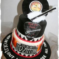 Rock on Led Zeppelin cake