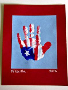 DIY Patriotic Hand Print... make 4th of July fun! http://www.ivillage.com/fun-easy-4th-july-crafts-kids/6-b-214913#469993
