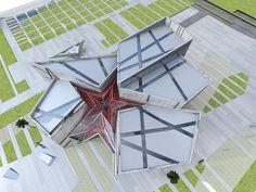 modern museum building 01 corporate brochure template corporate