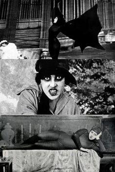 Musidora, actress of silent horror film series Les Vampires, 1915-1916.