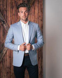 Light Blue Linen Blazer | Men's Fashion | Pinterest | Linen blazer ...