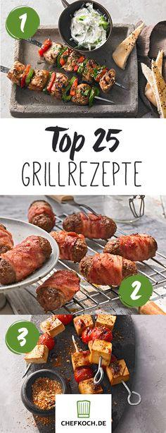 Internationale Grillrezepte von Souvlaki bis Saté Top 25 barbecue recipes from all over the world. So the barbecue season can begin! Barbecue Recipes, Grilling Recipes, Pork Recipes, Vegetarian Lifestyle, Vegetarian Recipes, Grill Party, Bbq Grill, Food Menu, Summer Recipes