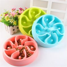 Hot-Sell Pet Dog Anti-Choke Feeder Slow Down Eating Feeder Dish Home Feeding Bowl Pet Puppy Heat-Resistant Bowls for Pet Dog Price: USD 9.2   UnitedStates