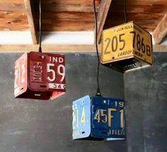 reused-number-plates-chandeliers.jpg (710×648)