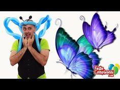 Balloon Butterfly Crown Costume - Palloncino modellabile Farfalla - Balloon Butterfly Costume with Balloon. Video tutorial balloon art. Palloncino Antenne Farfalla - Nella puntata di oggi vedremo come completare il nostro costume da farfalla realizzando una coroncina con le antenne con i palloncini modellabili.