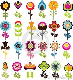 Folk Embroidery Patterns Retro Flowers Pixerstick Sticker - Textures - Retro Flowers Sticker ✓ Easy Installation ✓ 365 Day Money Back Guarantee ✓ Browse other patterns from this collection! Folk Art Flowers, Retro Flowers, Flower Art, Draw Flowers, Flower Prints, Cartoon Flowers, Flower Ideas, Folk Embroidery, Vintage Embroidery