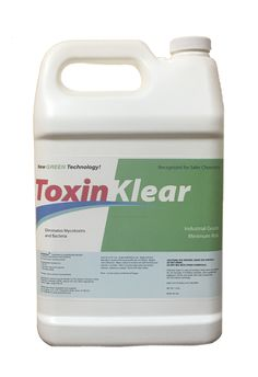 NEW! Mold may be gone but what about the mycotoxins it produces?  Light-weight molecules easily transfer from indoor location to another by being inhaled and absorbed. These molecules are extremely hazardous to an indoor environment and a family's health.  The first product of its kind, ToxinKlear® completely removes and eliminates mycotoxin vapor molecules left behind after mold removal. Recommended for use in light-weight 360 fogger application. Non-Toxic**
