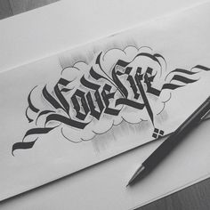 Calligraphy collection by Daniel Letterman Tattoo Lettering Styles, Hand Lettering Fonts, Creative Lettering, Lettering Design, Calligraphy Doodles, Calligraphy Words, Calligraphy Alphabet, Caligraphy, Gothic Lettering