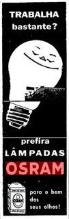 """ANOS DOURADOS: IMAGENS & FATOS: IMAGENS - Anúncio: LÂMPADAS """"OSRAM"""" 1958"""