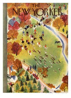 オールポスターズの ロジャー・デュボアザン「The New Yorker Cover - October 22, 1938」ジクレープリント