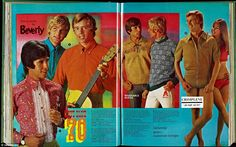 Menswear by Beverley, modeled by terribly wholesome looking men in the  1970 Spring/Summer catalogue. Kays expanded throughout the 20th cent...