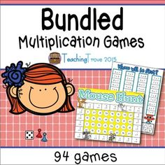 Multiplication Games - A bundled pack of 94 games consolidating each individual number fact as well as combined facts.