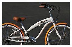 SALE Anti-Rust Aluminum frame, Fito Modena EX Alloy Frame Shimano 7-speed 26″ Beach Cruiser Bike Women Nirve Schwinn (26″ RIMS, WHITE W/ SAFFRON)