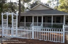 Like the screened front porch and picket fence?  #porch